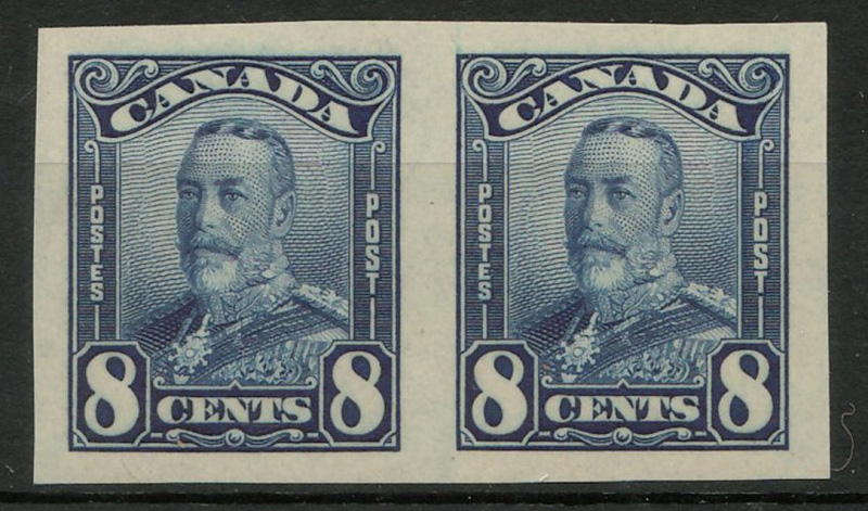 pair of blue stamps