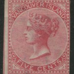 B.C. #3 Fine Unused 1865 5c Rose Imperforate, tear & thin 2007 Greene certificate states genuine $20,000