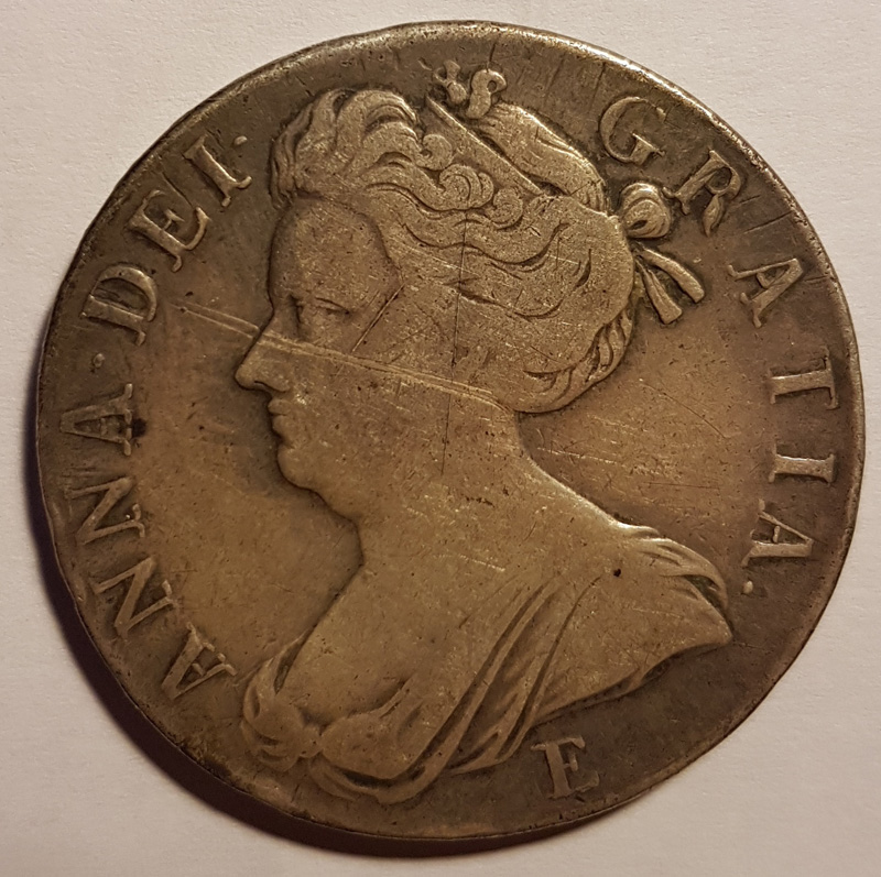 obverse bust of Queen Anne