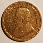 South Africa VF+ 1894 Gold Half Pond .1176oz AGW