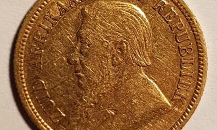 South Africa VF+ 1894 Gold Half Pond .1176oz AGW