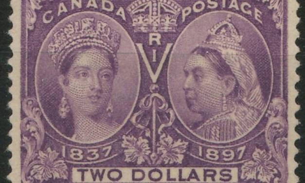 Canada #62 Fine+ Mint 1897 $2 Jubilee