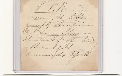 Frederick III King of Prussia as Prince Regent signed note, mount mks
