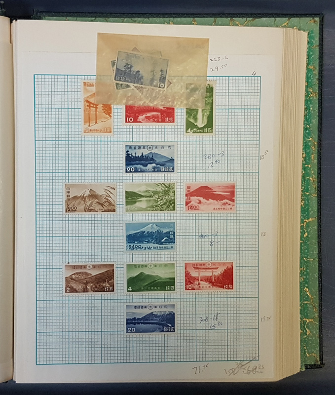 album page with stamps