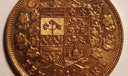 Canada XF 1912 George V Gold 10 Dollars .4837oz AGW