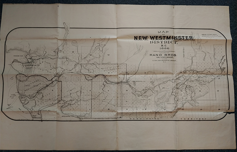 New Westminster map unfolded