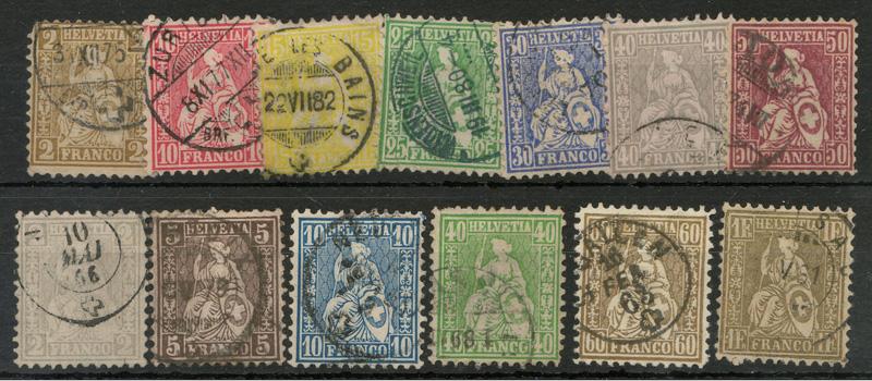 stamps in stockbook