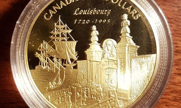 Canada Proof 1995 Louisbourg encapsulated 1/4oz $100 Gold