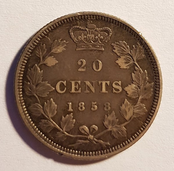20 cents 1858
