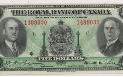 Royal Bank of Canada Unc 1935 $5 SN 1499030