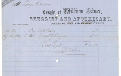 Victoria, V.I. 8 Feb 1859 Judge David Cameron William Zelner Invoice