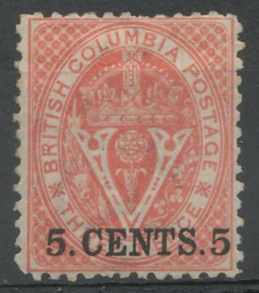 overprinted stamp