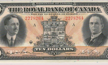 Royal Bank of Canada Unc 1927 $10 Banknote S/N 2278264