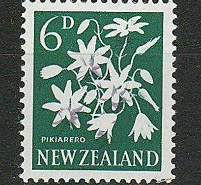 N.Z. #340b Never Hinged 1960/66 6d Missing Colour