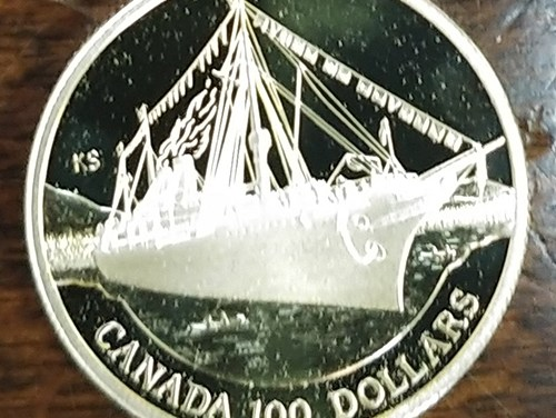 Canada Proof 1991 Empress of India quarter ounce $100 Gold