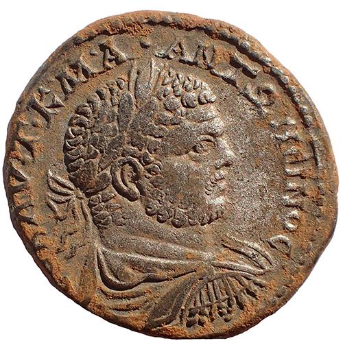 Caracalla 198-217 Antioch Silver Tetradrachm
