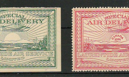 Laurentide Air #CL2-CL3 Never Hinged 1924 25c Airmail duo