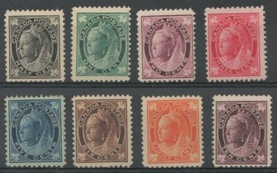 Canada #66-73 Mint 1897/8 QV Leaf Set