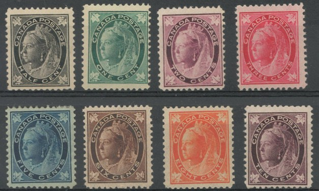 Canada #66-73 Mint 1897/8 QV Leaf Set