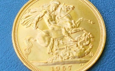 G.B. BU 1957 QEII Gold Sovereign