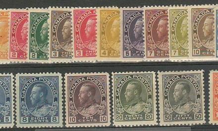 Canada #104-122 1911/25 George V Admiral Set (18)