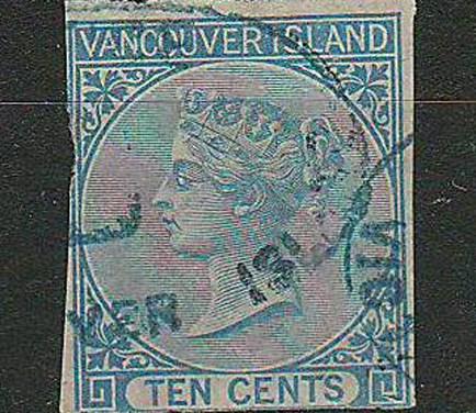 B.C. #4 1865 10c Imperf w/ RPSL Cert