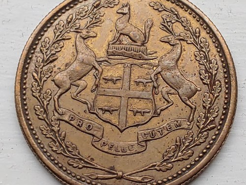 Hudson's Bay Company/Eastmain Unc 1857 1 Made Beaver token
