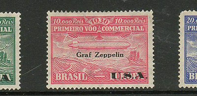 Brazil #4CL8-4CL10 1930 Zeppelin Set (3)