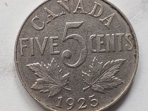 Canada 1925 George V 5 Cents