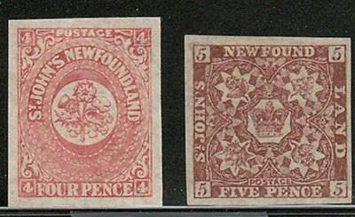 Newfoundland #17ii-20 1861/62 incl Ines in 2s (4)