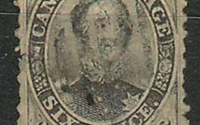 Canada #13a Fine 1859 6d Perforated