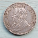 South Africa XF 1892 Silver 5 Shillings