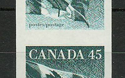 Canada #1396a 1995 45c Imperforate Pair