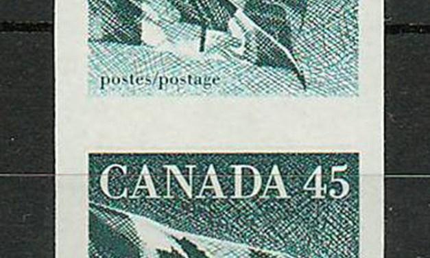 Canada #1396a 1995 45c Imperforate Pair