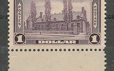 Canada #245 1938 $1 Chateau selected for centering