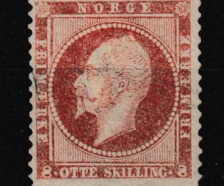 Norway #5 Fine Unused 1856 8Sk