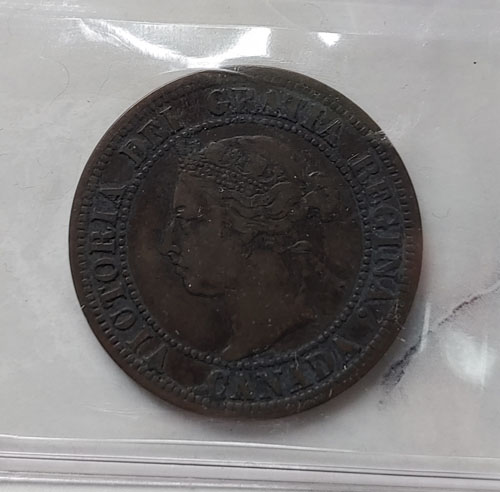 Canada ICCS VF20 1891 LL SD Obverse 3 Queen Victoria Large Cent