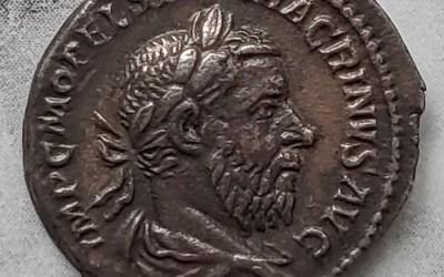 Macrinus 217-218 AD 3gm Silver Denarius