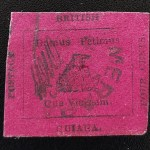 British Guiana #14 VF Used 1856 4c, 1955 Stolow Cert