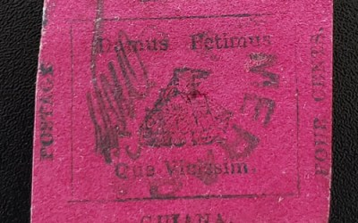 British Guiana #14 VF Used 1856 4c, 1955 Stolow Cert