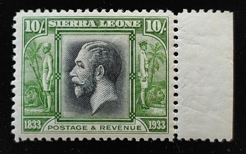 Sierra Leone #164 VF Mint HR 1933 10/- George V