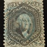 U.S.A. #78c F/VF Used 1862 24c Blackish Violet, reperfed