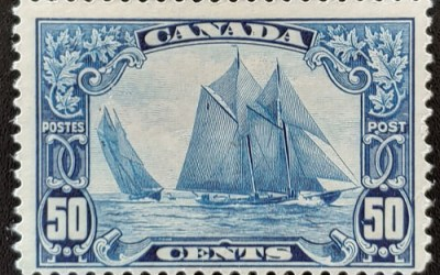 Canada #158 Fine Never Hinged 1929 50c Bluenose