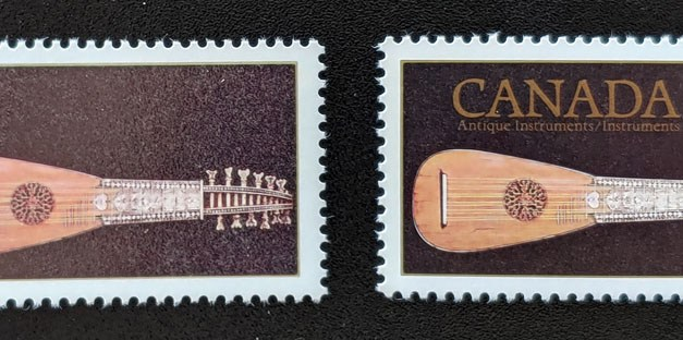 Canada #878i VFNH Printed on Gum, Missing Inscriptions and tagging