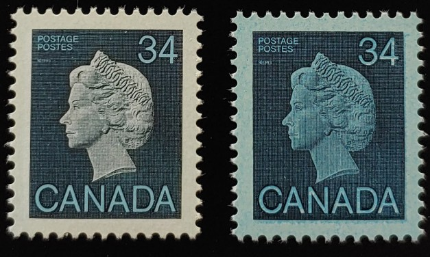 Canada #926i VFNH 1985 34c Blue Paper Variety w/ normal