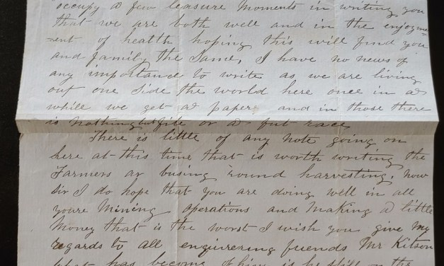 Camp Pickett 1861 1.5 page San Juan Is. letter from R.H. Frazer to Boyd