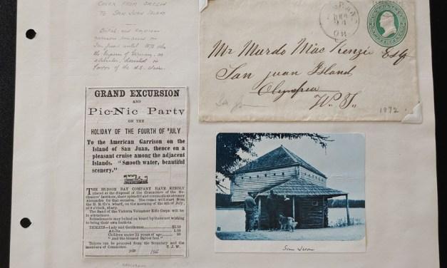 Murdo Mckenzie 1872 3c Oregon Postal Stationery to San Juan Island