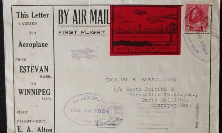Canada #CLP5i 1 Oc 1924 Wide Spacing Estevan/ Winnipeg FFC