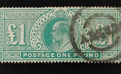 G.B. #142 F/VF Used 1902/1911 Edward VII Pound