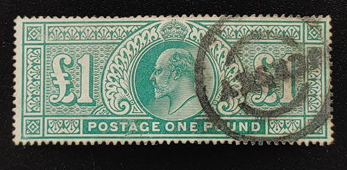 G.B. #142 F/VF Used 1902/1911 Edward VII Pound